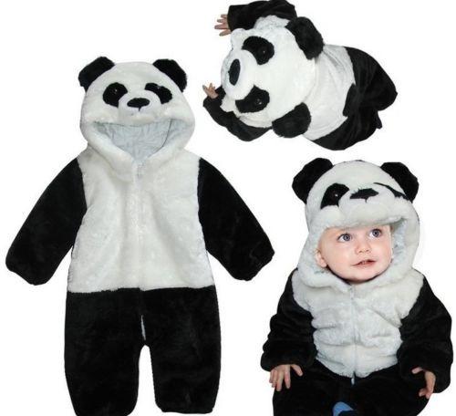 Macacão Infantil Fantasia Parmalat Bebê Urso Panda