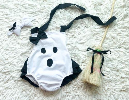 Imagem 1 de 3 de Fantasia Halloween Baby Fantasma Body Infantil Foto