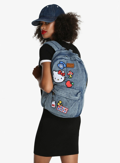 Mochila Mezclilla Hello Kitty Loungefly Original Hottopic