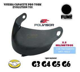 Viseira Capacete Pro Tork 788 Evolution Fume 2,2mm