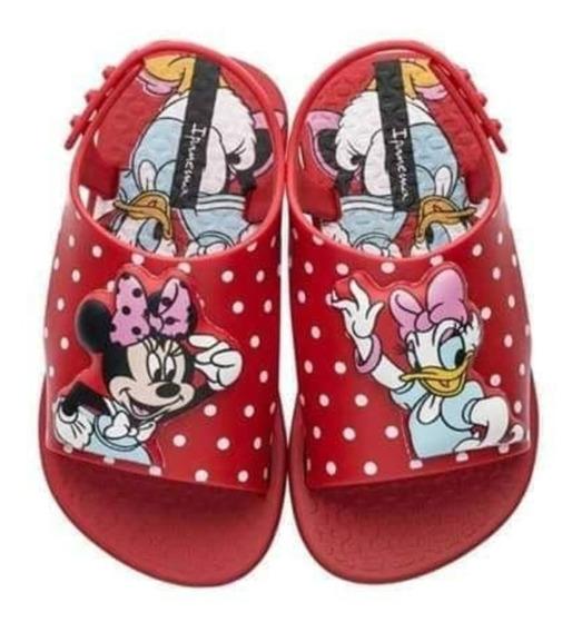 Sandália Feminina Infantil Baby Menina Criança Minnie Disney
