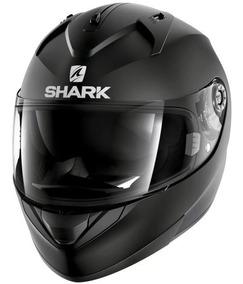 Capacete Shark Ridill Blank Kma Preto Fosco Viseira Interna