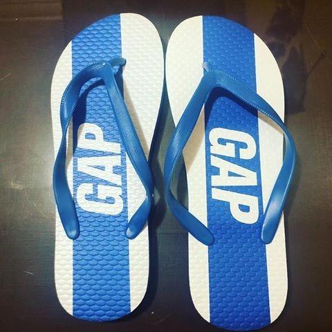 Chinelo Importado Da Marca Gap Azul E Branco 36/37 Original