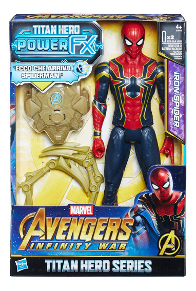 Avengers Figura De Acción Power Pack Iron Spider, 12