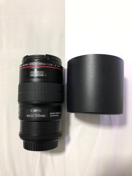 Lente Canon Ef 100mm F/ 2.8 L Macro Is - Usada