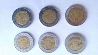 Lote De Monedas Coleccion 5 Pesos Centenario Revolucion
