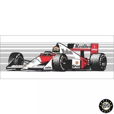 Adesivo Ayrton Senna Mclaren Mp4/5 1989 F1 Formula 1 Carros