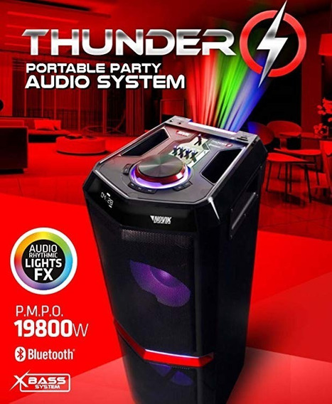 Caixa De Som Novik Thunder Portátil Bluetooth 1800w Rms