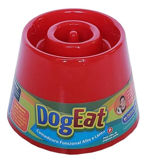 Comedouro Lento Alto Caes Pequeno Dog Eat Pet Games Vermelho