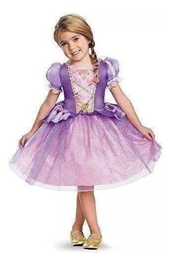 Disfraz De Rapunzel Toddler Classic Costume, Grande (4-6x)