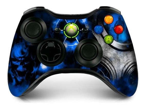 Skin Controle Xbox 360 Radioativo Azul 2 Unidades Verniz