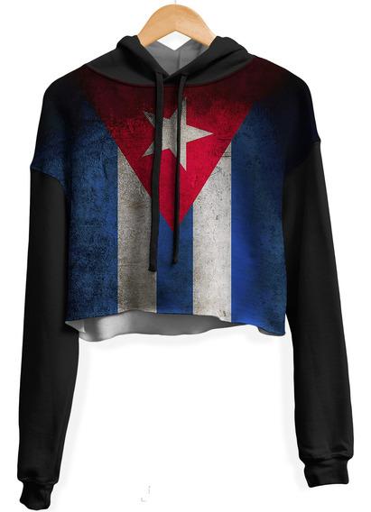 Blusa Cropped Moletom Feminina Overfame Cuba
