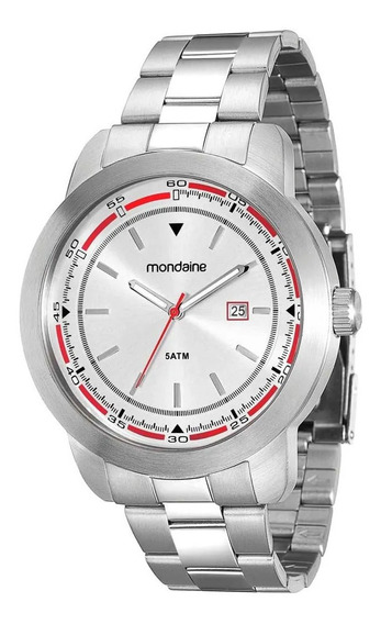 Relógio Masculino Mondaine 78636g0mvna1 Cromado De Vltrine