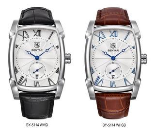 Benyar 5114_reloj Elegante_calidad_moderno_números Romanos