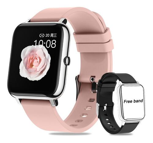 Smartwatch Mujer Hombre Reloj Inteligente Y Impermeable Ipx7