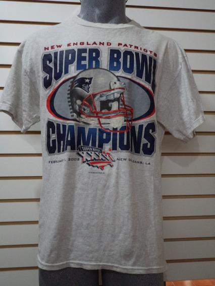 Playera Patriots Super Bowls Champions Caballero L Nueva