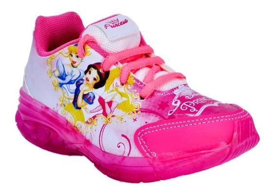 Tenis Infantil Das Princesas Com Led