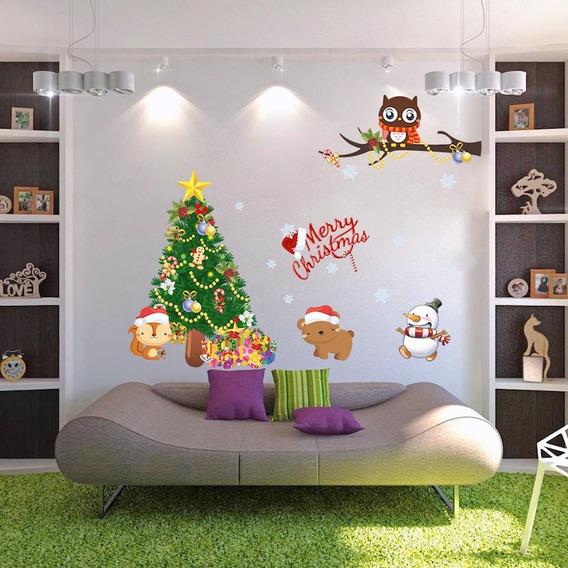 Decoração De Natal Adesivo Decorativo De Parede Natalino