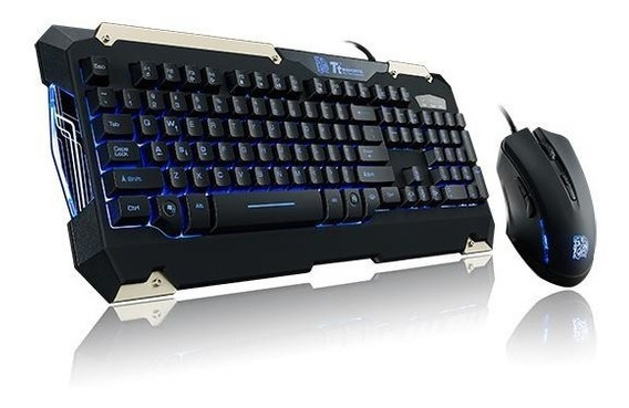 Kit Teclado E Mouse Gamer Sports Commander Abnt2 Thermaltake