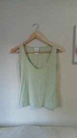 Blusa Regata Feminina Decotada Verde Clara