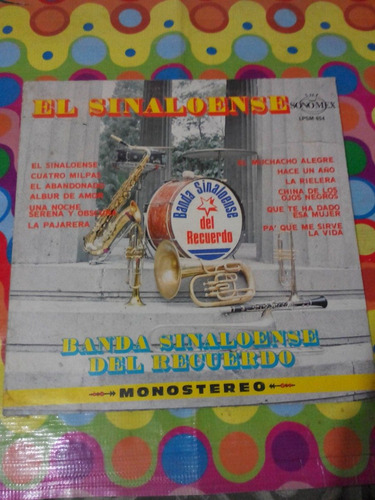 Banda Sinaloense Del Recuerdo Lp El Sinaloense1979 R
