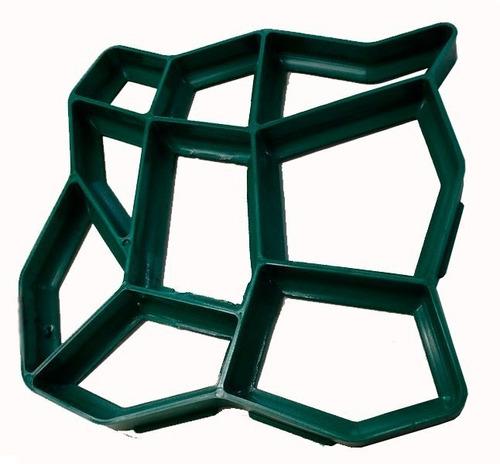 Forma Molde Piso Calçada Jardim C/instrução 50x50x4 Diagonal