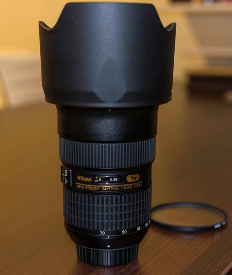Lente Nikon Af-s 24-70mm F/2.8 G Ed - Perfeita!! Nota 10!!