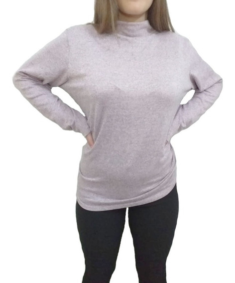 Sweater Polera Lanilla Media Estación Talle Grande Mujer
