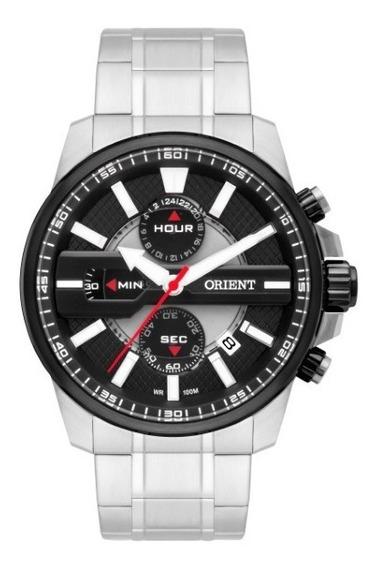 Relógio Orient Masculino Aço Fundo Preto 32978