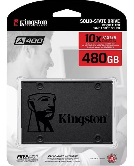 Hd Ssd Kingston 480gb 6gb/s A400 Pc Notebook Computador