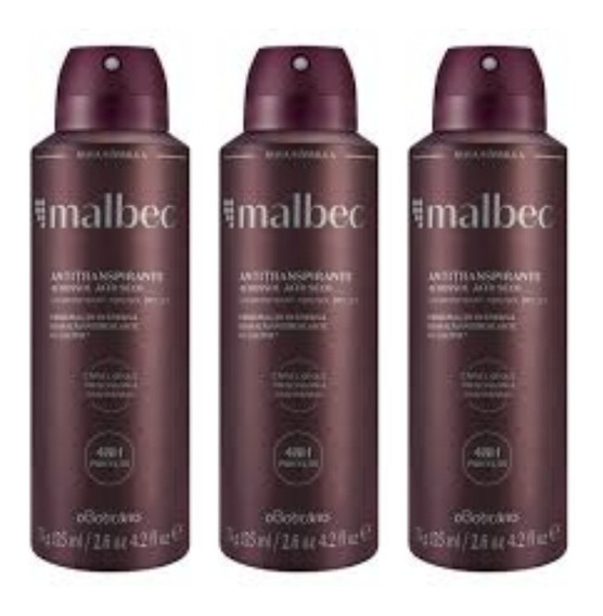Kit Malbec Desodorante Antitranspirante Aerosol O Boticário