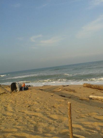 Terreno Con Playa Al Este Y Laguna Al Oeste,cerca D Tampico
