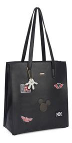 Bolsa Feminina Mickey Preta Bmk78395