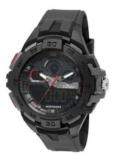 Relógio Masculino Condor Anadigi Preto Co1154cr/8p Original