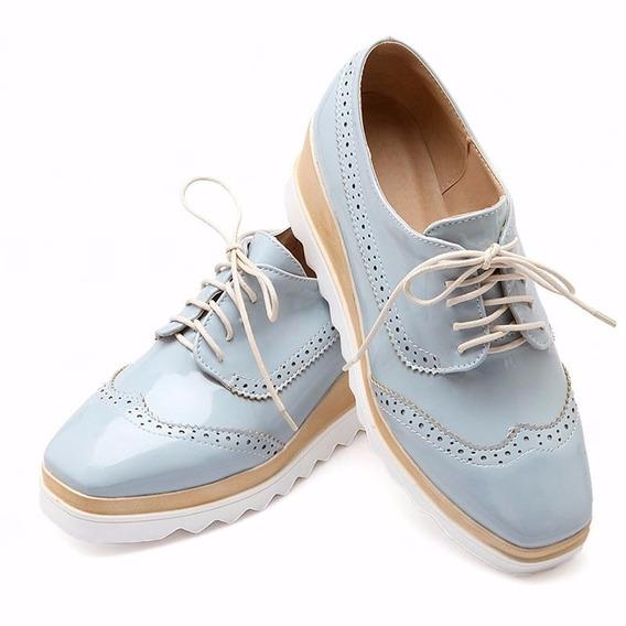 Zapato Plataforma Estilo Stella Excelente Acabado