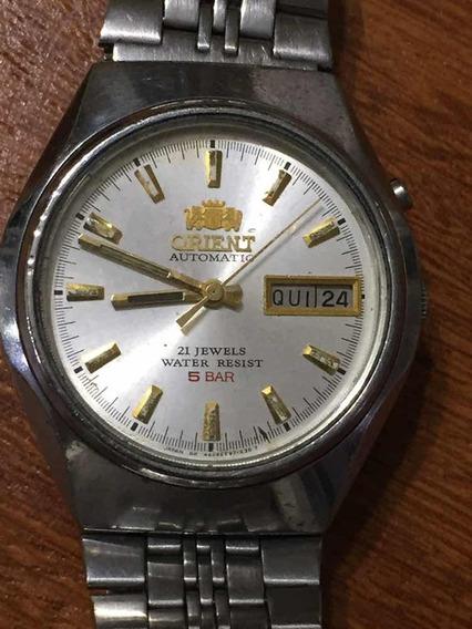 Relógio Antigo Orient Automático 21 Jewels Masculino