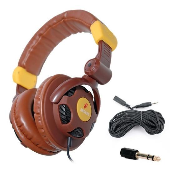 Arcano Dj E Musico Fone Arc-xhp100 + Extensor + Adpt P10