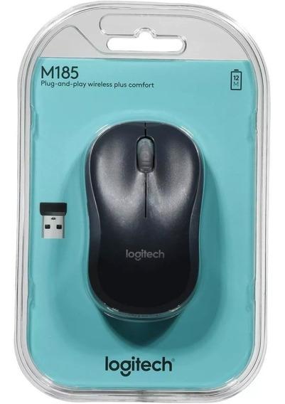 Mouse Logitech M185 Nano Wireless Sem Fio Nf & Garantia