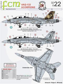 Decalque Fcm 32022 E/a-18g Growler Super Hornet 1/32 Decal