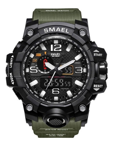 Relógio Militar Masculino Digital Esportivo Smael 1545