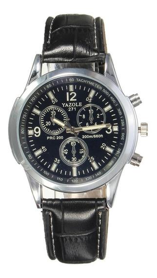 Relógio Luxo Masculino Yazole Analogico Original Pulso Social Racer Pulseira Esportivo Militar Promoçao Especial Lindo