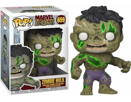 Funko Pop ! Marvel Zombies  Hulk Zombie #659 Deadpool Thor
