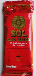 2 Chocolates Sol Del Cusco Incasur 90gr Para Taza Perú
