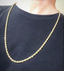 Cordão Baiano Masculino 4mm 76cm Super Banho Ouro 18k 2355