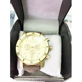 Relógio Masculino Luxo Quartz Pulso Social Pulseira Couro