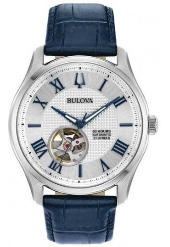 Relógio Bulova Masculino Automático 96a206 Esqueleto Azul