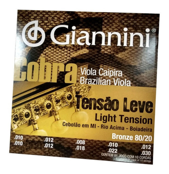Encordoamento Tensão Leve 80/20 Viola Cebolão Mi Giannini