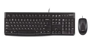 Teclado + Mouse Usb Logitech Mk120 Negro