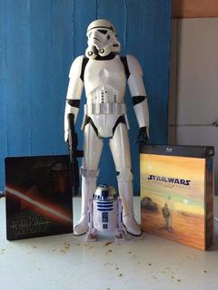 Coleção Box Star Wars 6 Filmes+ Steelbook Ep 7 + Figures