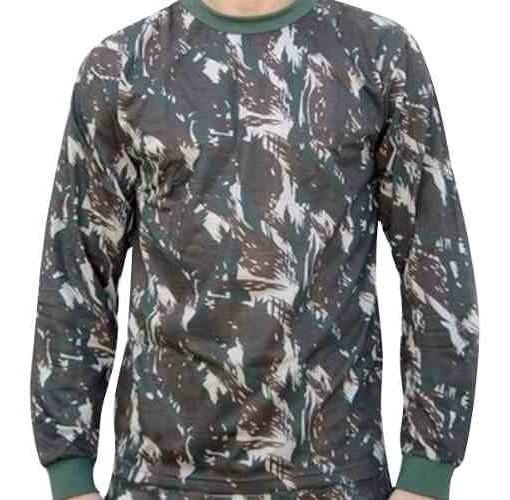 Camiseta Manga Longa Camuflada Padrão Eb Atacado Militar
